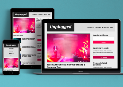 Unplugged Responsive Website