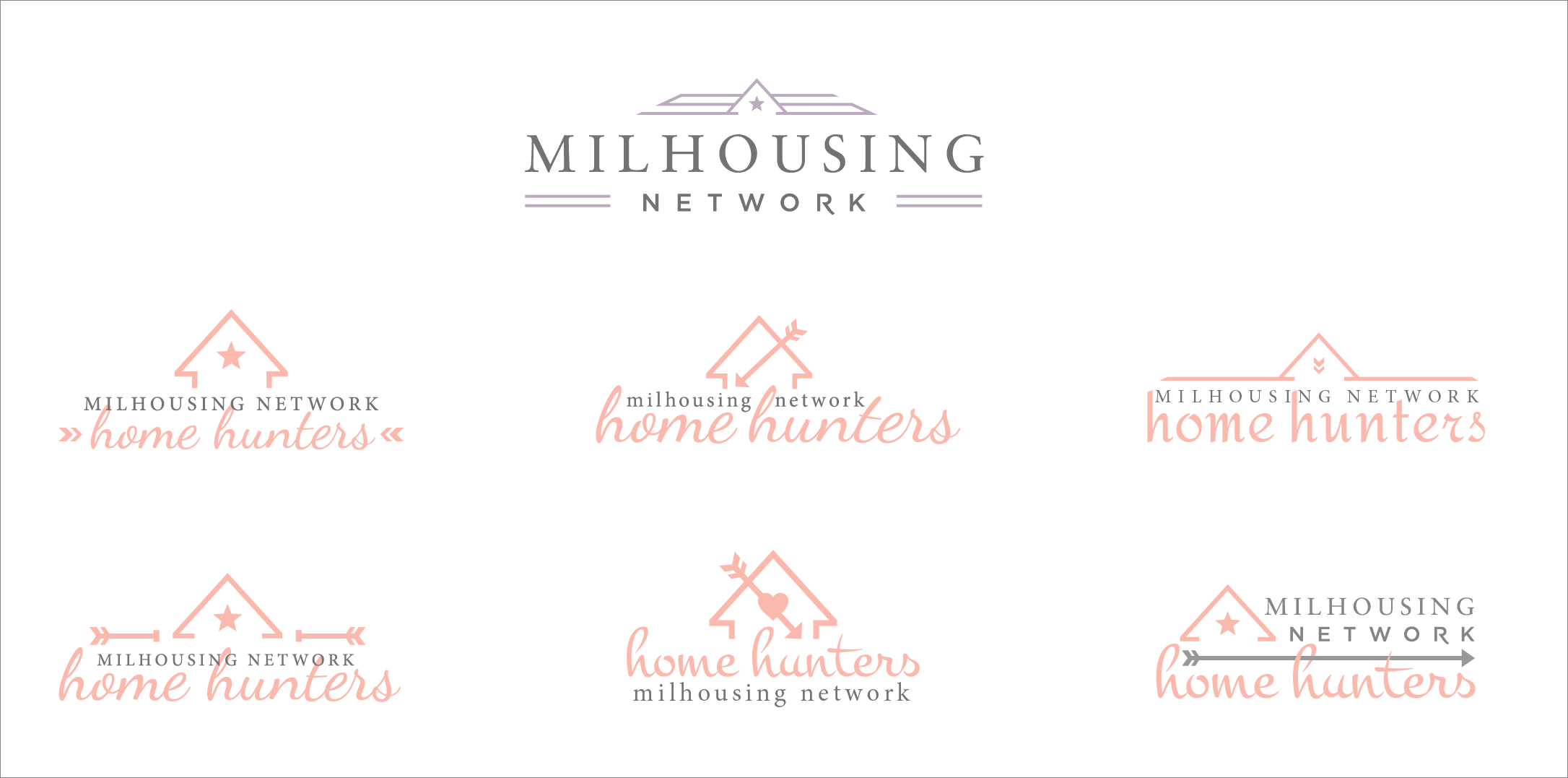 Home Hunters logo design concepts