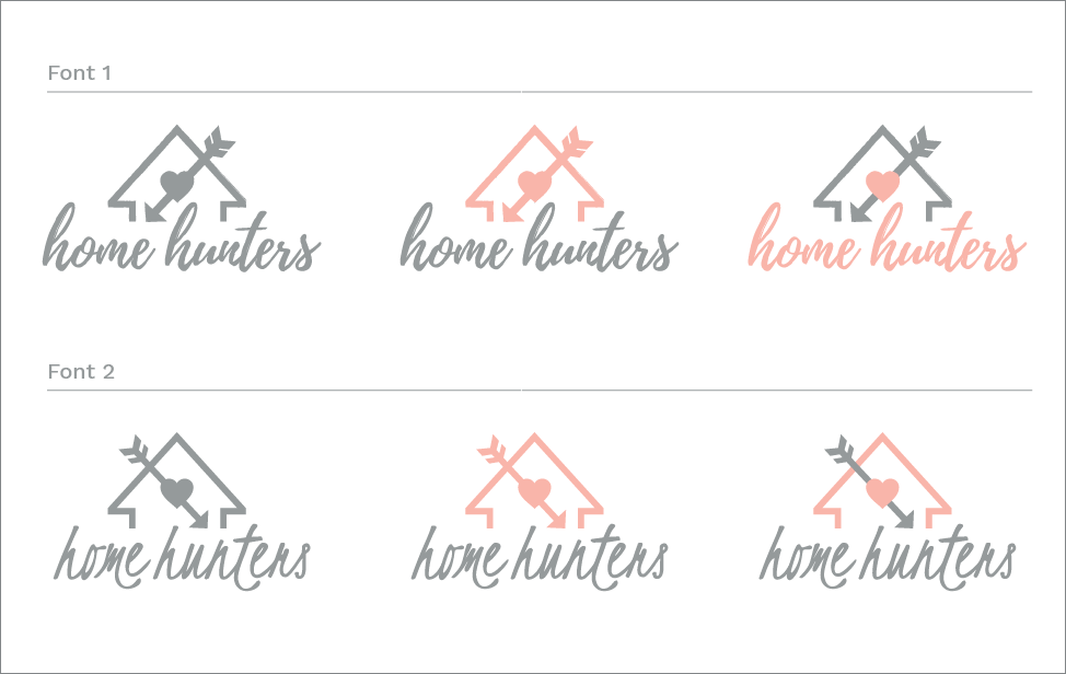 Home Hunters logo concepts round 2