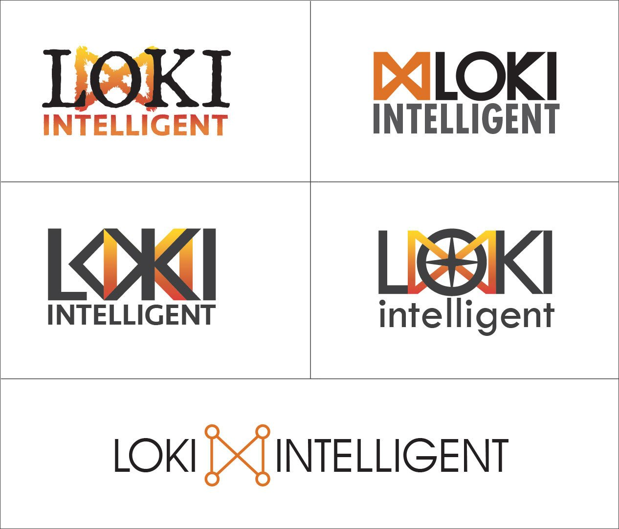 Loki Intelligent logo design concepts