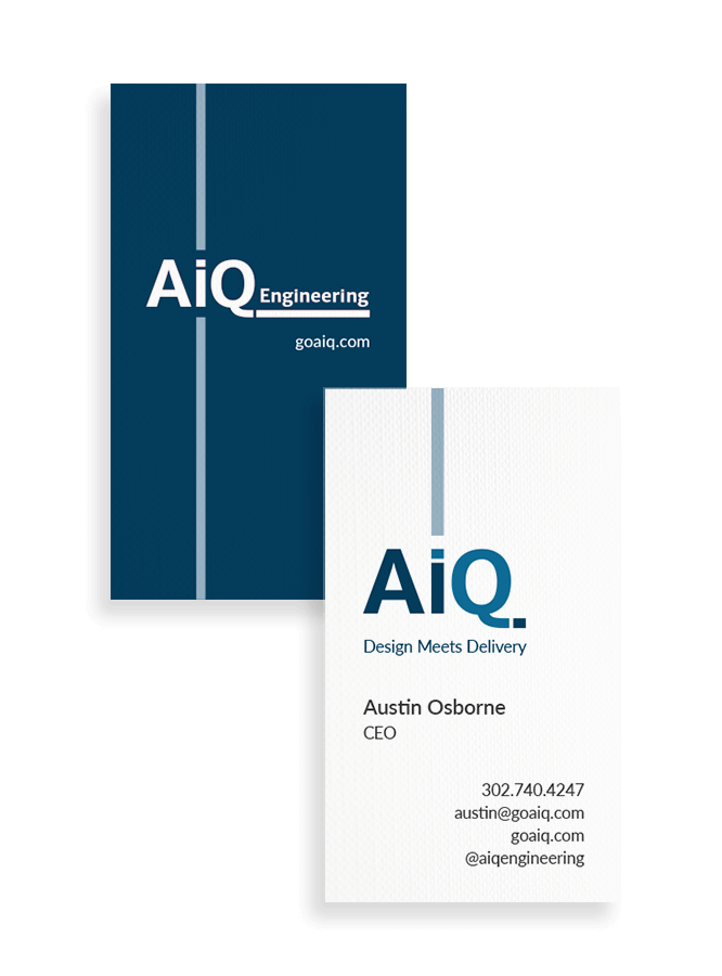 AiQ business card design