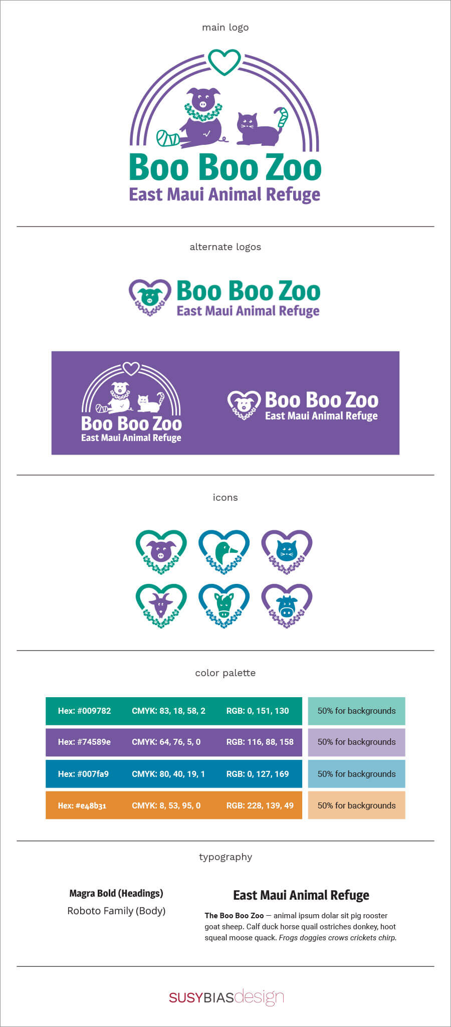 Boo Boo Zoo brand board