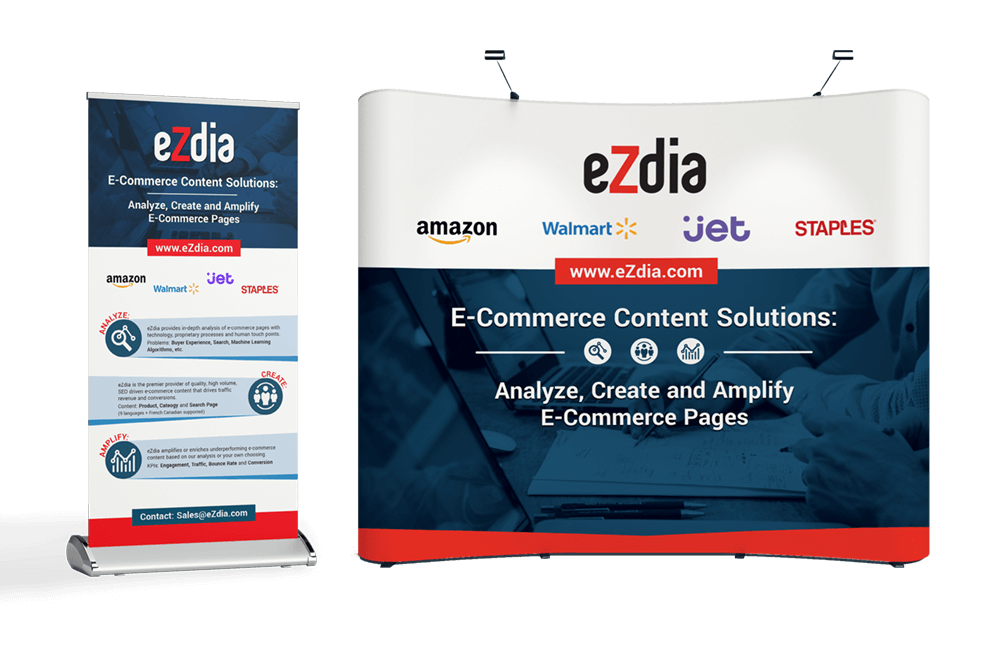 eZdia conference banner and booth design