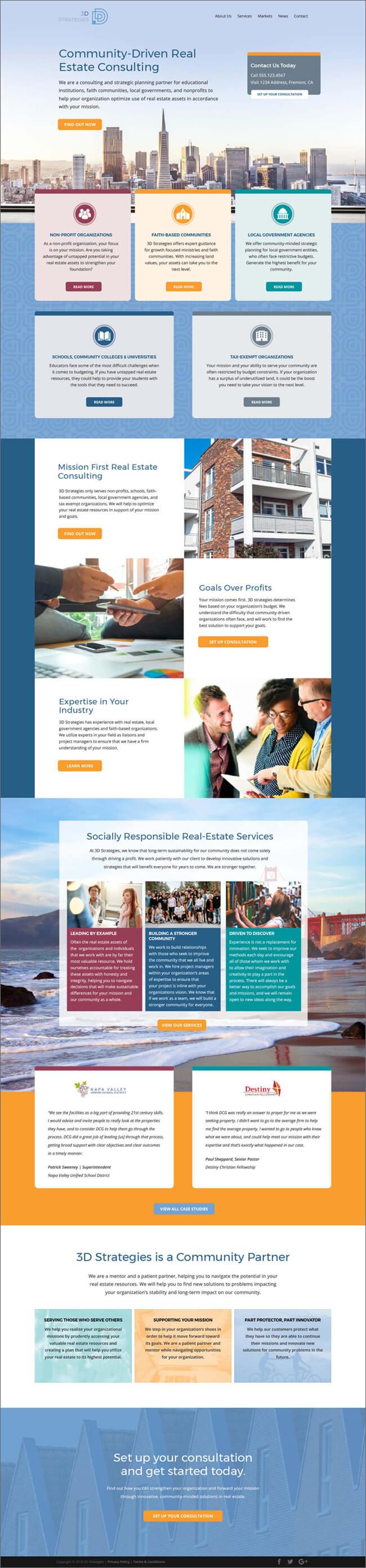 3D Strategies homepage refresh design