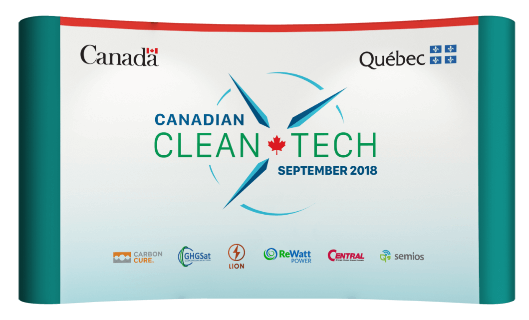 Canadian Clean Tech Reception conference booth