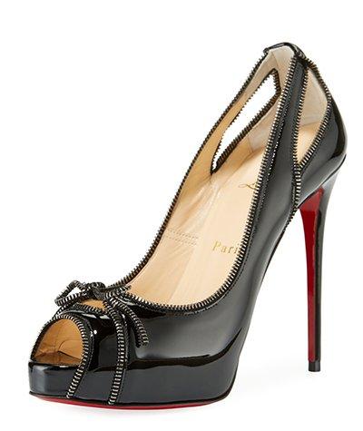 Fancy high-heeled designer shoe