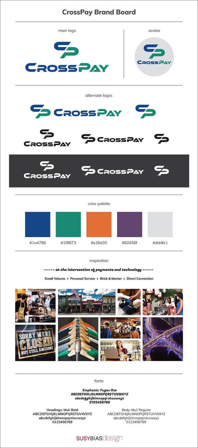 CrossPay brand board