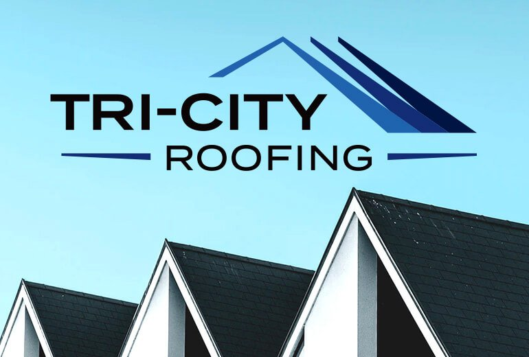 Tri-City Roofing logo by San Francisco logo designer Susy Bias