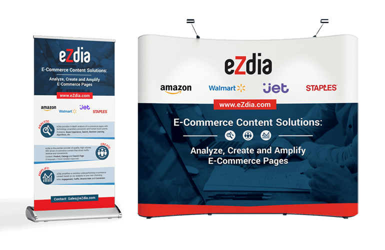 eZdia conference booth and popup banner stand mockups