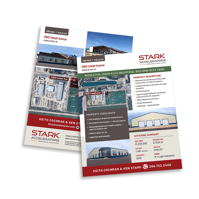 Stark Accelerators Commercial Real Estate sales sheet