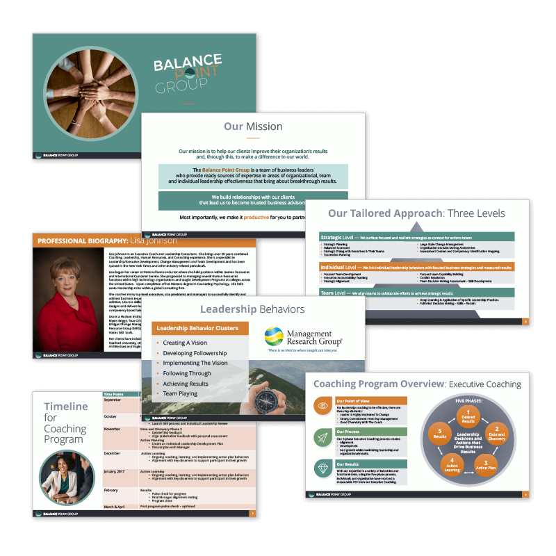 Powerpoint slides for Balance Point Group
