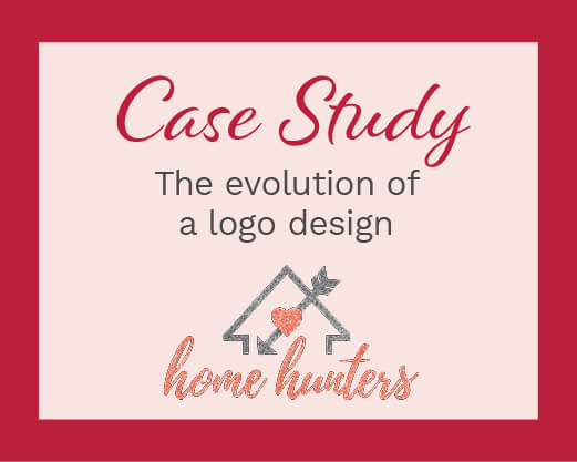 Case Study: The evolution of a logo design with Home Hunters logo