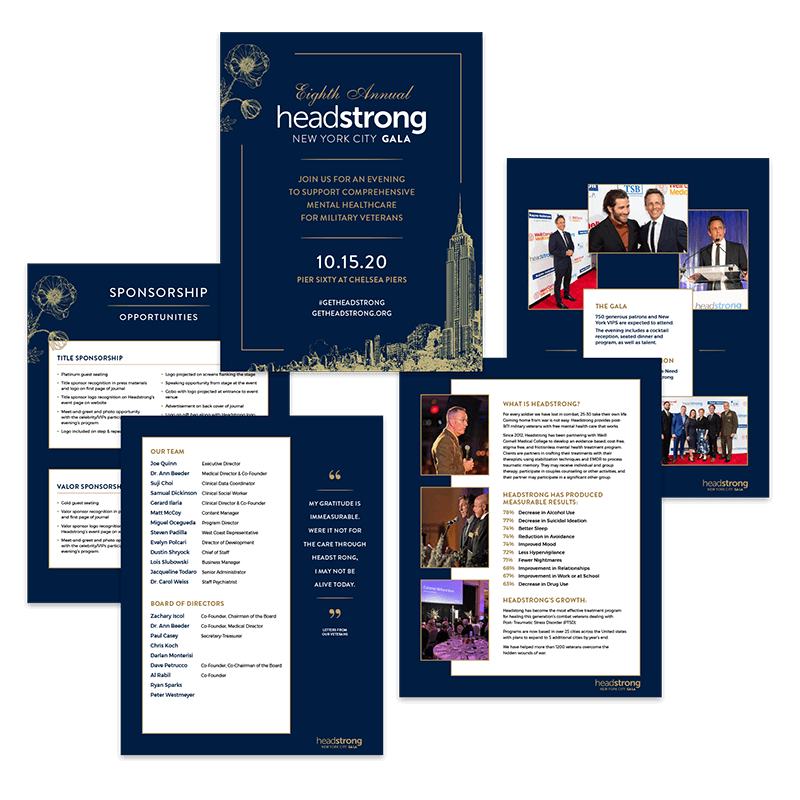 Headstrong Gala Sponsorship Booklet