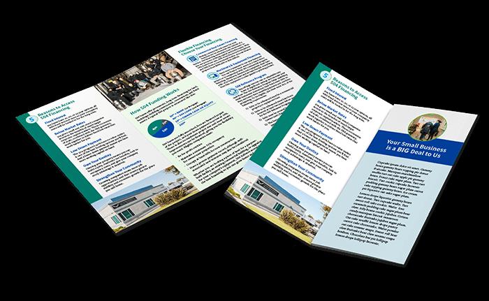 Bay Area Development Company Trifold Brochure Design